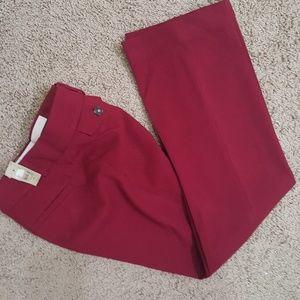 Burgundy petite trouser pant